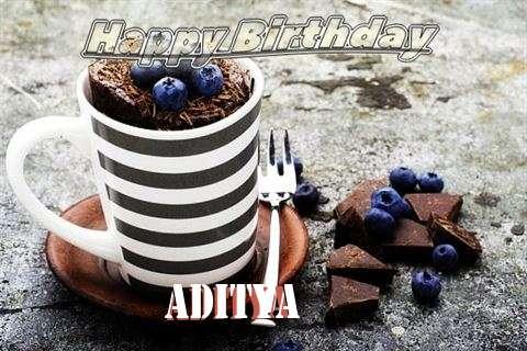 Happy Birthday Aditya Cake Image