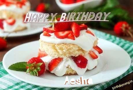Happy Birthday Aesha Cake Image