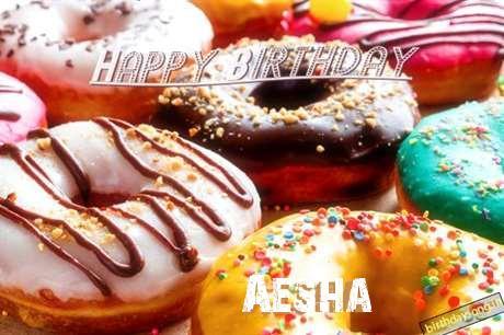 Happy Birthday Cake for Aesha