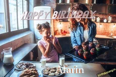 Happy Birthday to You Afarin