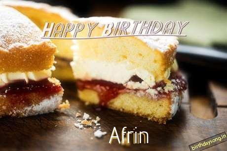 Happy Birthday Afrin Cake Image