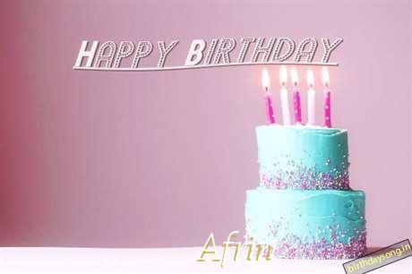 Happy Birthday Cake for Afrin