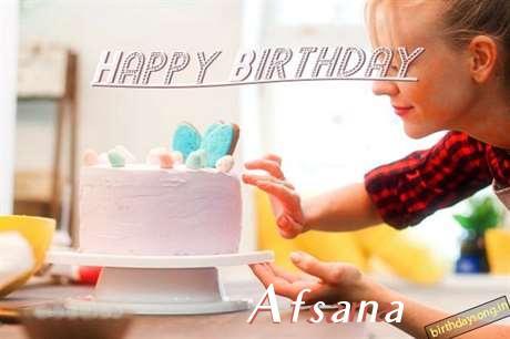 Happy Birthday Afsana Cake Image