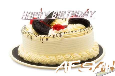 Happy Birthday Cake for Afsana