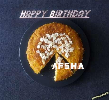 Happy Birthday Afsha Cake Image
