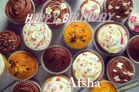 Happy Birthday Wishes for Afsha