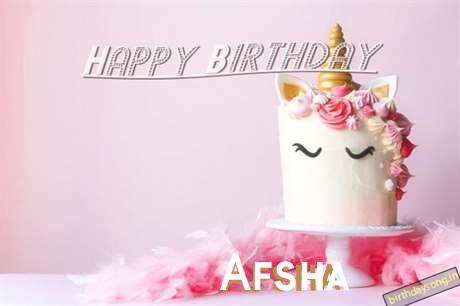 Happy Birthday Cake for Afsha