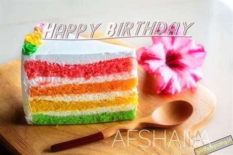 Happy Birthday Afshana Cake Image