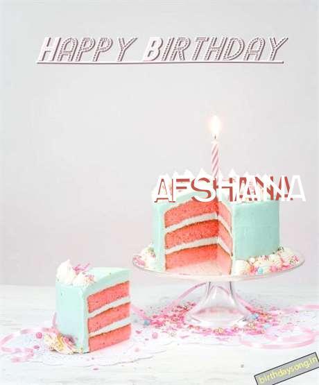 Happy Birthday Wishes for Afshana