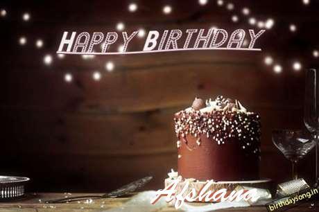 Happy Birthday Cake for Afshana