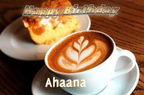 Happy Birthday Cake for Ahaana