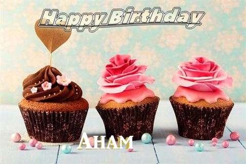 Happy Birthday Aham Cake Image