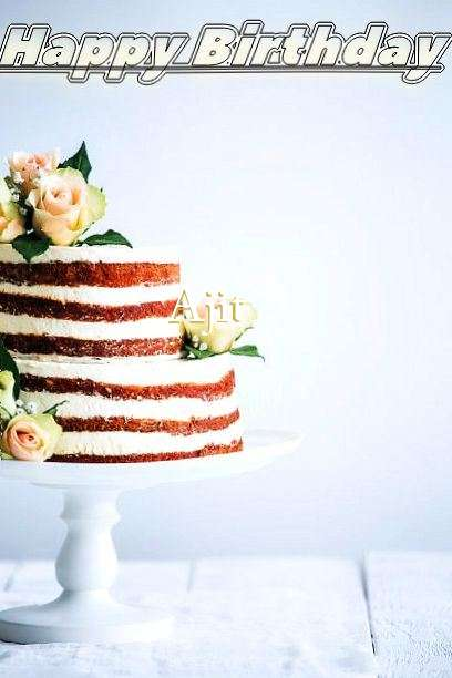 Happy Birthday Ajit Cake Image