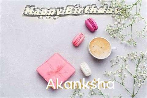 Happy Birthday Akanksha Cake Image