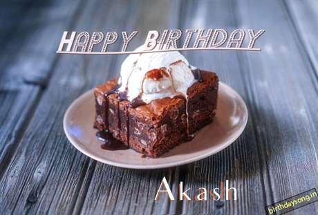 Happy Birthday Akash Cake Image