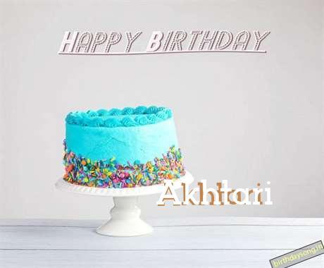 Happy Birthday Akhtari Cake Image