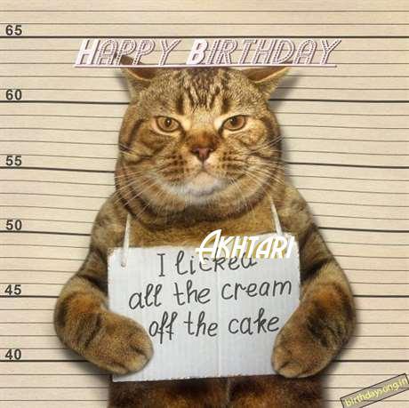 Happy Birthday Cake for Akhtari