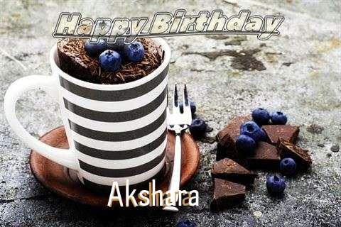 Happy Birthday Akshara Cake Image