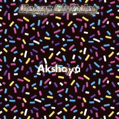 Birthday Wishes with Images of Akshaya