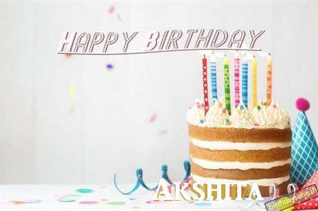 Happy Birthday Akshita Cake Image