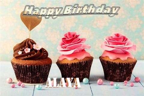 Happy Birthday Alaya Cake Image