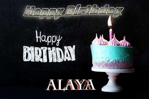 Happy Birthday Cake for Alaya