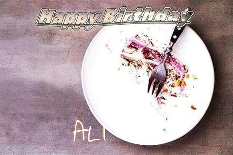 Happy Birthday Ali Cake Image
