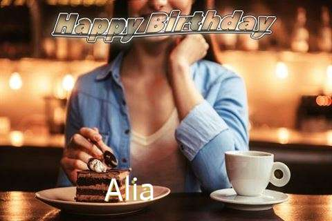 Happy Birthday Cake for Alia