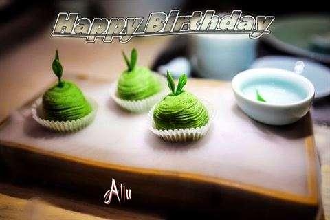 Happy Birthday Allu Cake Image