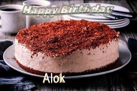 Happy Birthday Cake for Alok