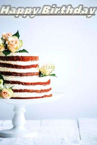 Happy Birthday Aman Cake Image