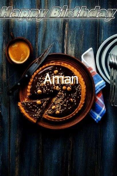 Happy Birthday Cake for Aman