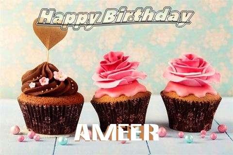 Happy Birthday Ameer Cake Image