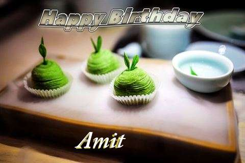 Happy Birthday Amit Cake Image