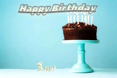 Happy Birthday Cake for Amjad
