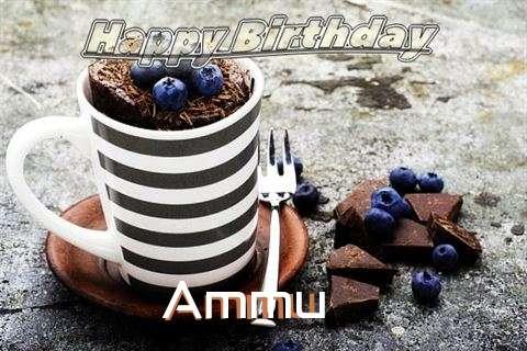 Happy Birthday Ammu Cake Image