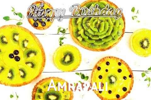 Happy Birthday Amrapali Cake Image