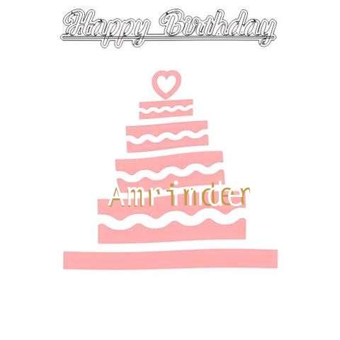 Happy Birthday Amrinder Cake Image