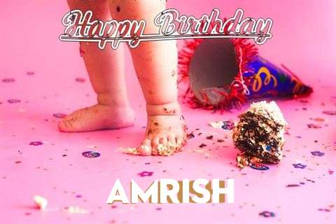 Happy Birthday Amrish Cake Image