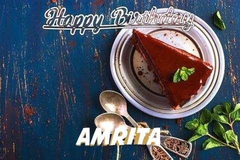 Happy Birthday Amrita Cake Image