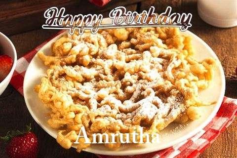 Happy Birthday Amrutha Cake Image