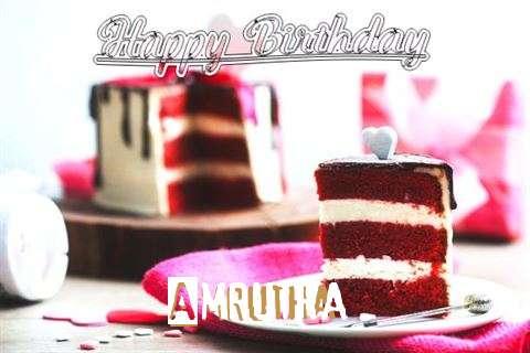 Happy Birthday Wishes for Amrutha