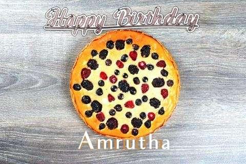 Happy Birthday Cake for Amrutha