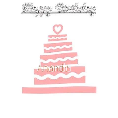 Happy Birthday Ananda Cake Image