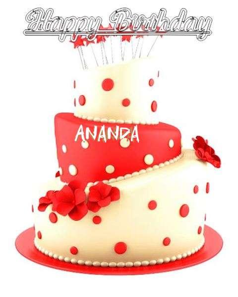Happy Birthday Wishes for Ananda