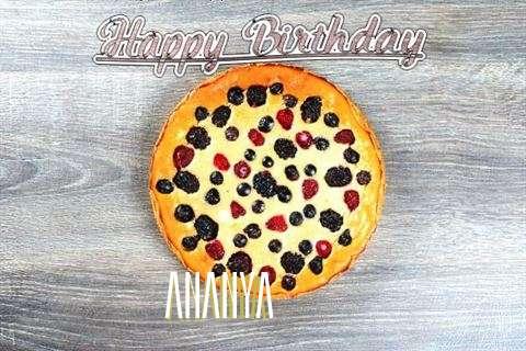 Happy Birthday Cake for Ananya