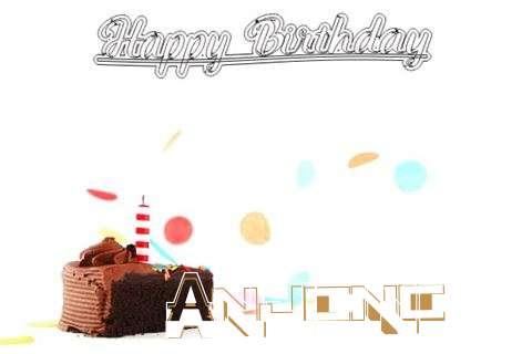 Happy Birthday Cake for Anjana