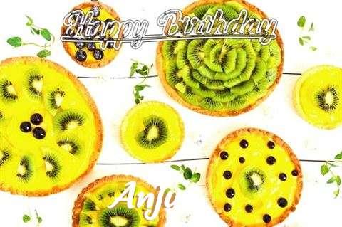Happy Birthday Anju Cake Image