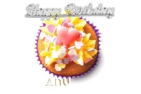 Happy Birthday Anu Cake Image