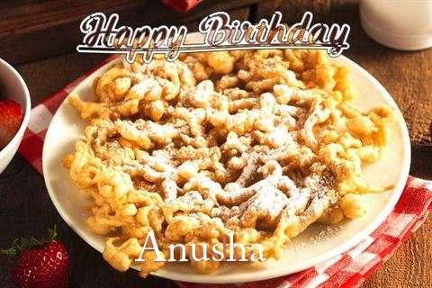 Happy Birthday Anusha Cake Image